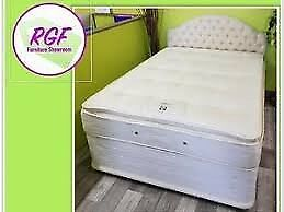 Double divan with mattress as NEW - Twickenham £60 only