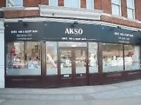 """Spacious Shop """"Do Any Business """" /Fully Furnished Beauty Salon including Massive Basement to Rent ."""