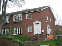 Dss conisdered rents in advance 2 bed large apartment with parking near city centre