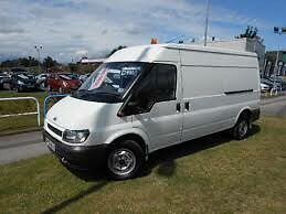 01 transit lwb semi high full psv spotless van