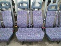 Campervan Seats , Built in seat belts, VW ,Ldv etc Good condition