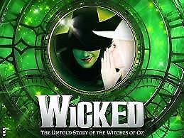 2 theatre tickets to Wicked in London on November 4th 2017- £68.50