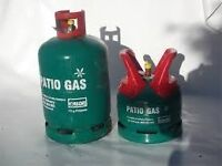 £ 15 - EMPTY Calor Gas 5 kg Propane PatioGas bottle/cylinder + £5 for regulator , ***BBQ***CAMPING*