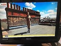 "22"" TECHNIKA LCD TV BUILTIN DVD PLAYESR BUILTIN FREEVIEW USB PORT GOOD CONDITION CAN DELIVER"