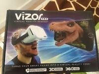 Vizor Virtual reality Headset and control