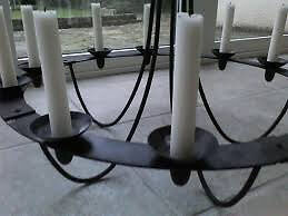 Candelabra (ceiling mount) Wrought iron