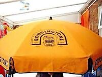 Boddingtons Beer Garden Parasol Brand New!