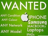 WANTED)IPHONE 8 & 8 PLUS IPHONE 7 6S 6 5S SE/SAMSUNG GALAXY S8 PLUS NOTE 8 MACBOOK PRO IPAD PRO AIR