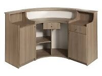 Hair / Beauty Reception Desk REM Form Desk with 2 identical side panels .