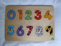 ELC WOODEN NUMBER PUZZLE Wood Chunky