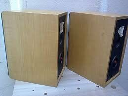 Sony SS-CRB5 BookShelf Speakers - Blonde Wood / Silver