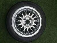 "*** Vw Golf Mk2 GTI BBS 15 "" RZ Refurbished Rim And New 195/50 15 Kumho Tyre *** £75"