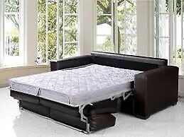 Beautiful leather sofa bed