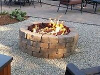 hand made fire pit and barbecues