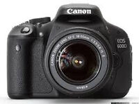 Canon 600D with 18-55mm lens - Receipt & Warranty -