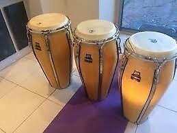 MEINL - set of 2 Floatune Congas with Meinl Cases > retail $1700 Sydney City Inner Sydney Preview