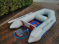 Dinghy and outboard motor