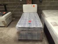 Brand New Comfy Single bed set with Headboard ,Lots of Colours FREE delivery
