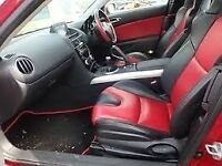 RX8 Seats Front and rear Red with black side strips