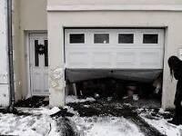 réparation, installation porte de garage/ garage door repair 7/7