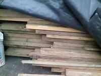 WOOD FOR SALE[ £11 EACH PLANK / SCAFFOLDING BARS X14 ..SIZE VERY