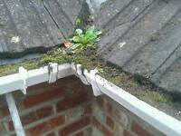 Roofer. Gutters cleaned, resealed and replaced from £75.No call out fee.