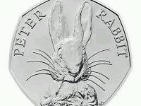 Rare peter rabbit fifty pence