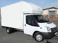 MAN&VAN LARGE LUTON VAN WITH TAIL LIFT 24/7 SHORT NOTICE HOUSE OFFICE FLAT STUDENT MOVER ALL OVER UK