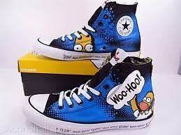 MENS / TEENS HOMER SIMPSON CONVERSE HIGH TOPS SIZE 6 IN AS NEW CONDITION