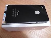 APPLE IPHONE 4S 32GB BLACK WITH BOX AND CHARGER ON EE.