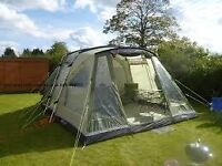 Oakland XL 5 man Tent with side Awning, Footprint and Additional Equipment