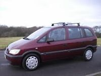 7 seater 53 plate Zafira.Not available until 26/07/2016