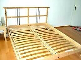 Double bed sultan lade bed frame ikea