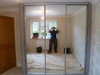 3 mirrored door wardrobe