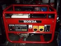 (110V ONLY) 2KW GENUINE HONDA 4 STROKE PETROL GENERATOR WITH LOW OIL AUTOMATIC SHUTDOWN