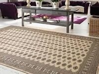 RUG (BUKHARA STYLE HAND MADE) COLOUR BEIGE SIZE 2.7M X 1.9M