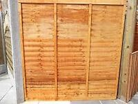 Quality overlap fence panels for sale.
