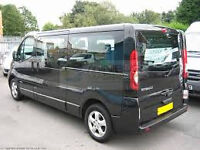 PCO 9 SEATER VEHICLES for hire, Renault Trafic, Vauxhall Vivaro, Available (Toyota Prius)