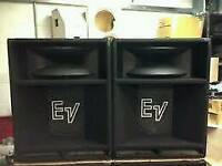 "EV 1502ER 15"" MID TO LOW BASS PA SPEAKERS"