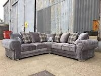 🔴WE DEAL ONLY QUALITY ITEMS🔵verona corner - 3 and 2 seater sofa set in grey color-cash on delivery