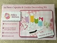 Hillys Kitchen BNIB 19 Piece Cupcake & Cookie Decorating Kit