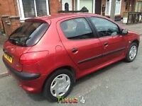 PEUGEOT 206 5 DOOR HATCHBACK, 1400 CC NEW CAMBELT , DRIVES LIKE NEW. LONG MOT.