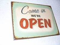 Come in were open sign. Good condition suit a shop cafe or deli collection only