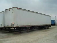 53' storage trailers good and dry