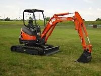 Mini Digger with Driver All Areas call ANDY 07568 441277 Mini Diggers up