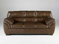 LEATHER COUCH TO GIVE AWAY  ON SATURDAY