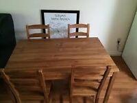 Ikea JOKKMOKK table dismantled