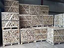 Top Quality Seasoned Oak or Ash Hardwood Logs in Pallet