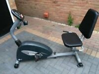 Carl Lewis reclining exercise bike with gears