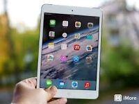iPad Mini Retina 128gb WiFi/LTE, cover, case/stand, keyboard